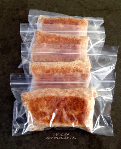 Creating Convenience Foods: Breakfast Pockets ready for the freezer reserve | urbnspice.com