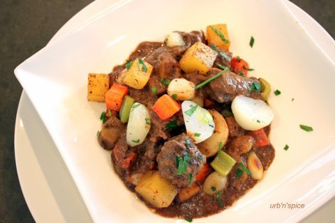 Classic Braised Beef Stew with Root Vegetables | urbnspice.com