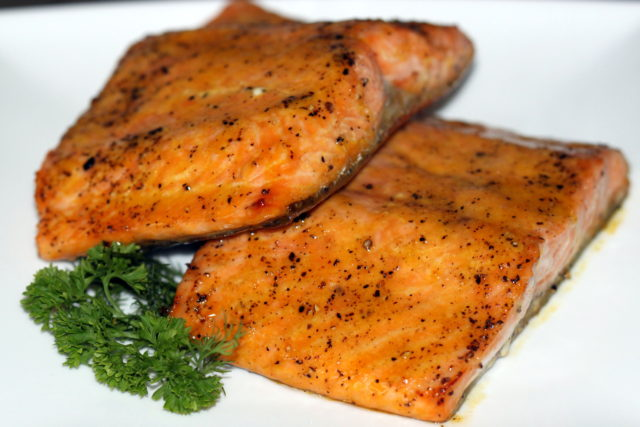 Orange Glazed Roasted Salmon | urbnspice.com