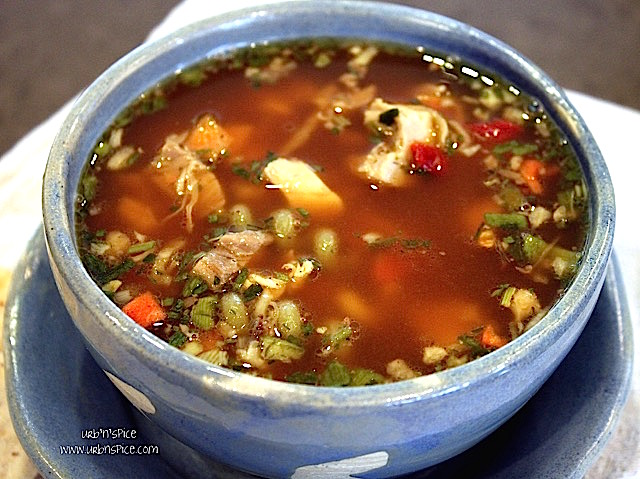 Five Minute Chicken Soup - really! | urbnspice.com