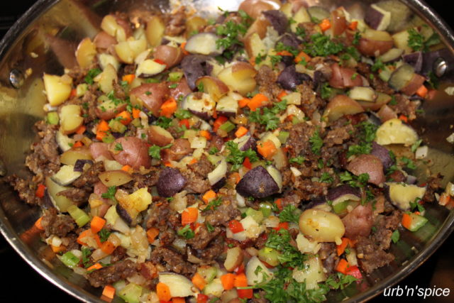Sausage & Potato 'no bread' stuffing | urbnspice.com