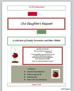 "The Watson Family Recipe Archive, ""Our Daughter's Request"""
