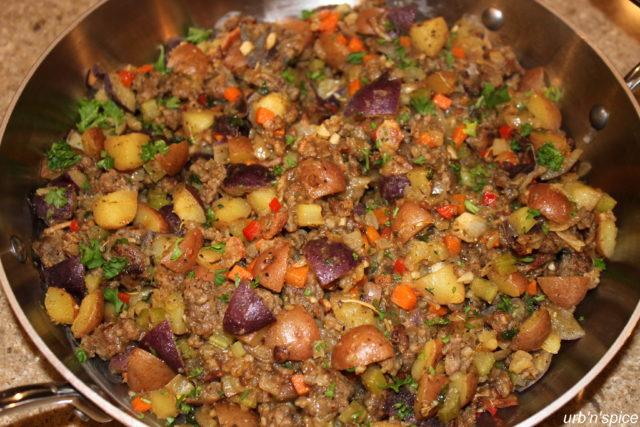 Sausage & Potato Stuffing | urbnspice.com