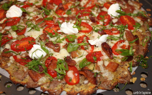 Ready to Eat Smashed Potato Pizza | urbnspice.com
