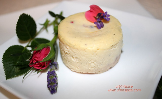 Lavender Rose Cheesecake Individual | urbnspice.com