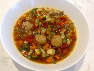 Chilly Day Soup with Meatballs | urbnspice.com
