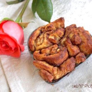 Cinnamon Roll Heart | urbnspice.com
