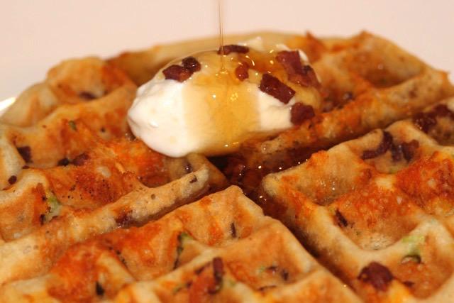 Savoury Waffle | urbnspice.com