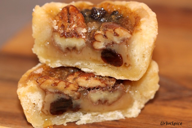 Maple Butter Tart with Pecans and Raisins | urbnspice.com