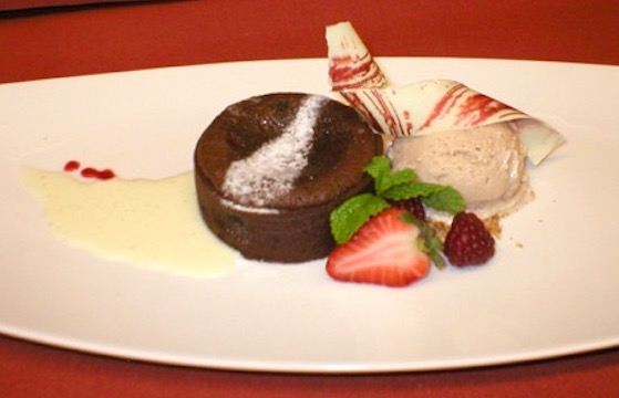 Chocolate Short Dough in a warm chocolate tart plated dessert | urbnspice.com