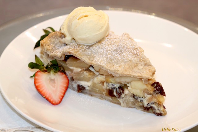 Plated Apple Cream Pie | urbnspice.com
