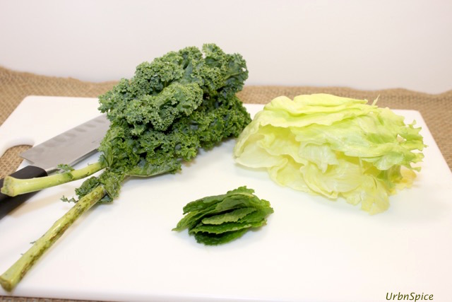 Stack leaves to prepare chiffonade cut | urbnspice.com