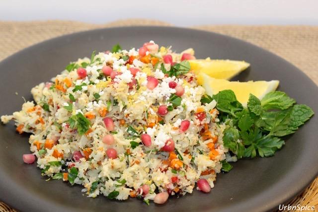 Plated Cauliflower Tabbouleh | urbnspice.com