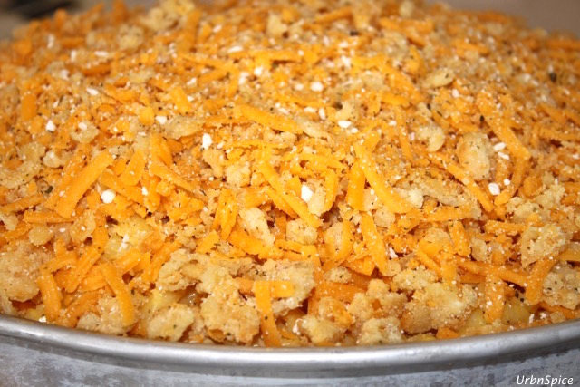 Mac and Cheese topped with fresh bread crumb topping   urbnspice.com