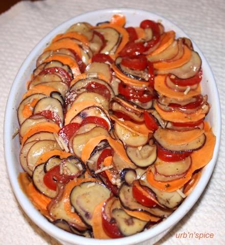 Vegetable Tian using Yam as an alternative | urbnspice.com