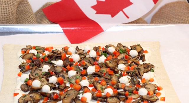 Caramelized Mushroom Tart