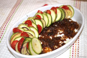 Layering the Vegetables for Vegetable Tian | urbnspice.com