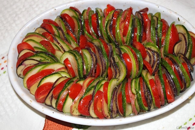The Vegetable Tian is ready to bake | urbnspice.com