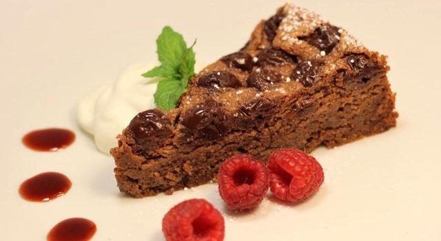 Chocolate Cherry Almond Torte – Gluten Free, Grain Free, Refined Sugar Free