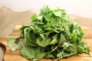 Power Greens: a blend of chard, kale, spinach   urbnspice.com