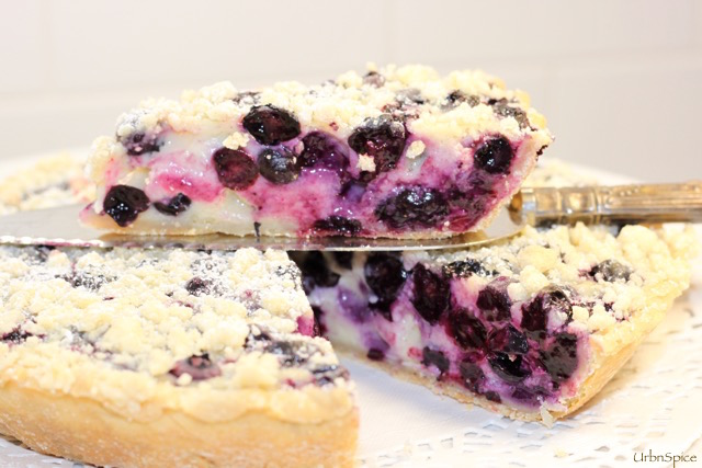 Blueberry Sour Cream Tarte | urbnspice.com