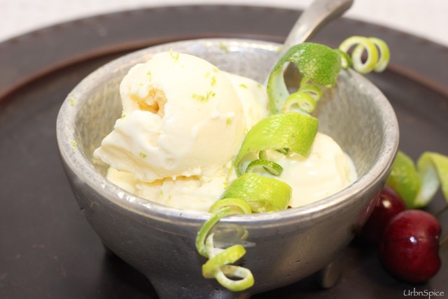 Zesty Lime Ice Cream | urbnspice.com