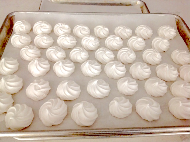 Aquafaba meringues drying | urbnspice.com
