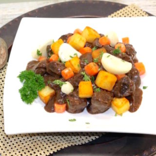 Plated Classic Braised Stew | urbnspice.com