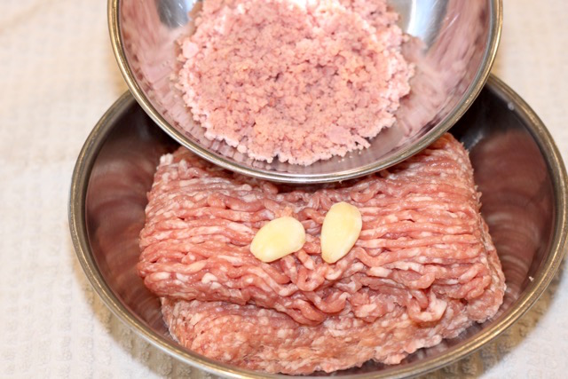 Ground Pork and Ham Mise en Place | urbnspice.com