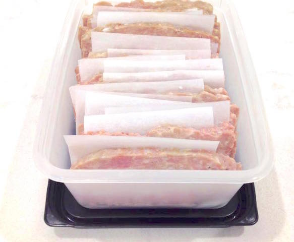 Storing Pork and Ham Lunch Loaf for the freezer | urbnspice.com