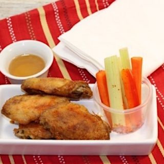 Snack time: chicken wings and crudites | urbnspice.com