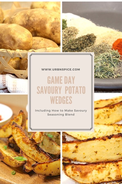 Savoury Potato Wedges.long pin | urbnspice.com
