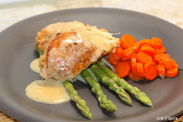Chicken in Creamy Asiago Sauce | urbnspice.com
