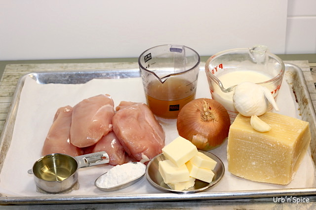 Chicken Asiago Sauce Ingredients | urbnspice.com