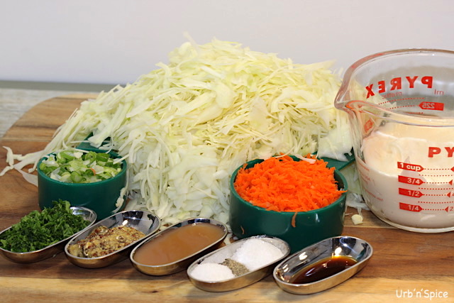Ultimate Coleslaw Ingredients | urbnspice.com