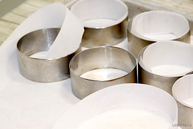 Lining rings with strips of Parchment | urbnspice.com