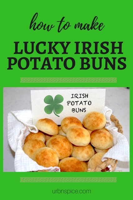 Lucky Irish Potato Buns long pin | urbnspice.com