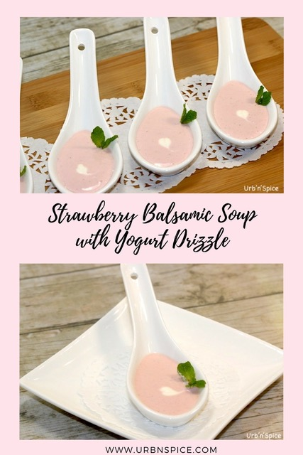 Strawberry Balsamic Soup | urbnspice.com