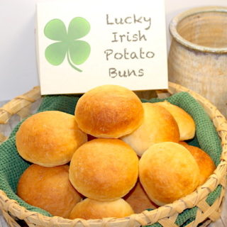 Lucky Irish Potato Buns | urbnspice.com