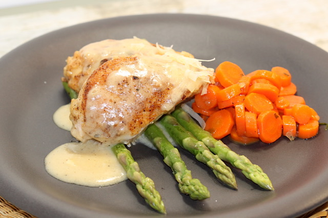 Chicken with Creamy Asiago sauce | urbnspice.com
