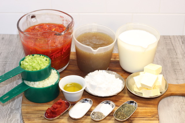 Gourmet Creamy Tomato Soup ingredients | urbnspice.com