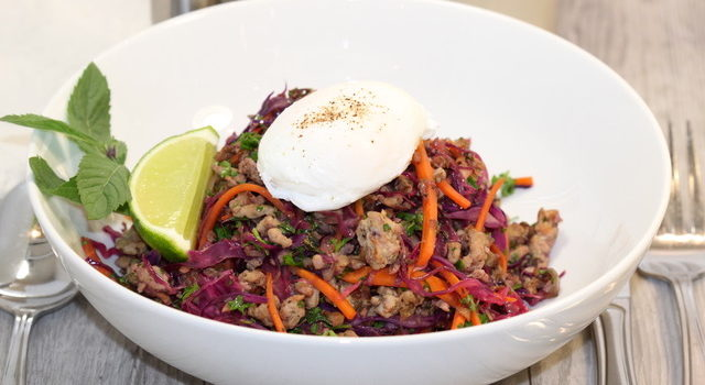 Savoury Blenditarian Brunch Pork with Vegetables & Fine Herbs