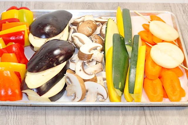 Vegetable Platter prep   urbnspice.com