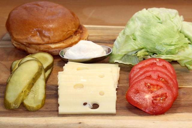 Turkey Mushroom Jarlsberg Burger Toppings | urbnspice.com