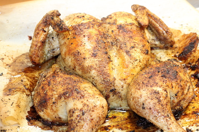 Spatchcock Chicken with Quick Poultry Rub | urbnspice.com