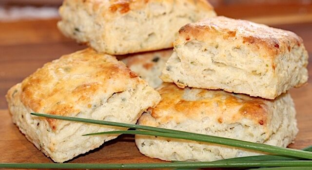Asiago Cheese and Chive Scones