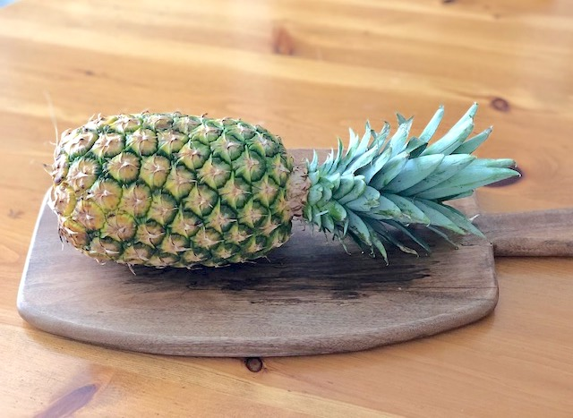 An organic pineapple