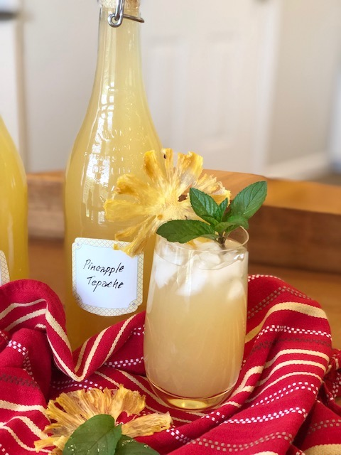 Pineapple Tepache in a frosty glass